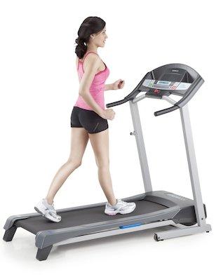 A girl running on Weslo Cadence R 5.2 Best Treadmill